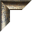 Bilderrahmen individuell Konfigurator Farbe Blau Gold meliert