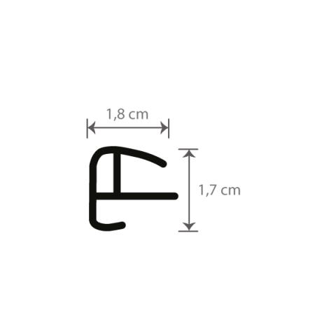 Individueller Bilderrahmen / Puzzlerahmen / Posterrahmen, Modell Biggy Querschnitt mit Maßen