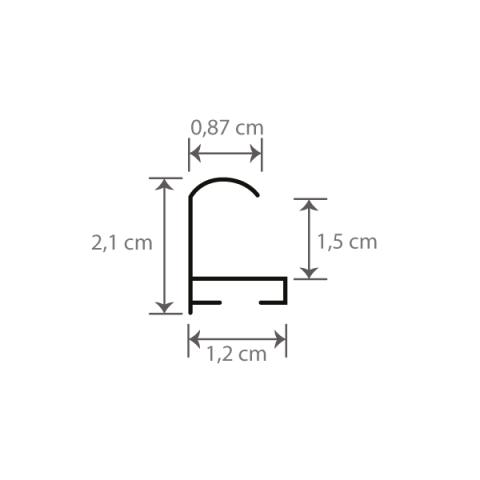 Individueller Bilderrahmen Sondermaße Modell Montreal Querschnitt