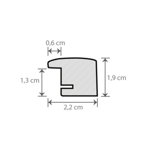 Individueller Bilderrahmen Sondermaße Modell Palma Querschnitt