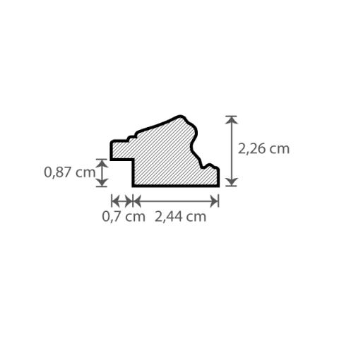 Individueller Bilderrahmen / Puzzlerahmen / Posterrahmen, Modell Bristol Querschnitt
