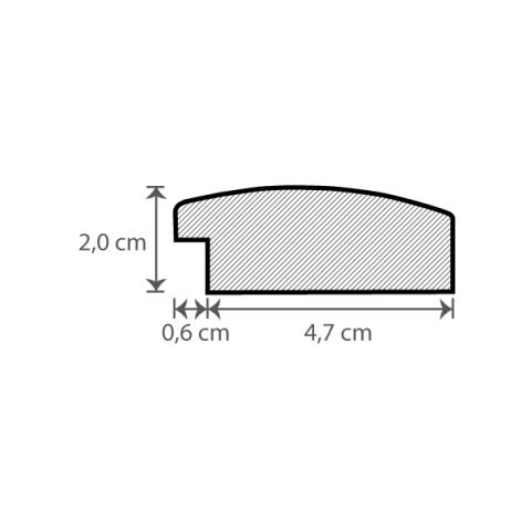 Individueller Bilderrahmen / Puzzlerahmen / Posterrahmen, Modell Hastings Querschnitt