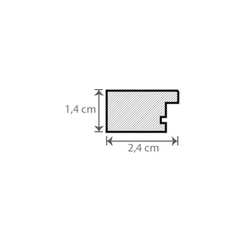 Individueller Bilderrahmen / Puzzlerahmen / Posterrahmen, Modell Stralsund Querschnitt mit Maßen