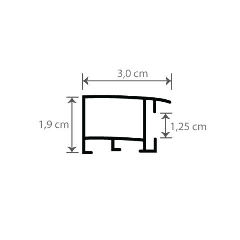 Individueller Bilderrahmen Sondermaße Modell Toronto Querschnitt