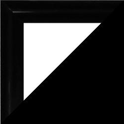 Individueller Bilderrahmen Modell Biggy Farbe Schwarz Hochglanz