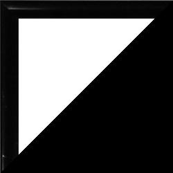 Individueller Bilderrahmen Sonderformat Modell Easy Farbe Schwarz Hochglanz