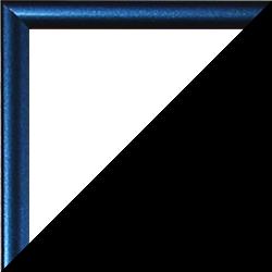 Individueller Bilderrahmen Sonderformat Modell Easy Metallic blau