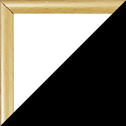 Individueller Bilderrahmen Sonderformat Modell Easy Holzdekor hell