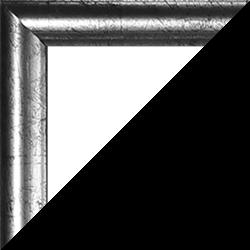 Individueller Bilderrahmen Modell Biggy Farbe Silber antik