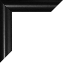 Individueller Bilderrahmen Modell Biggy Farbe Schwarz matt