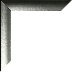 Individueller Bilderrahmen Modell Pisa Alu geschliffen Dekor