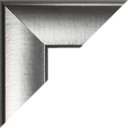 Individueller MDF Bilderrahmen Sonderformat Modell Pisa Alu gebürstet Dekor