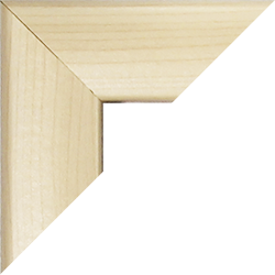 Individueller MDF Bilderrahmen Sonderformat Modell Pisa Ahorn Dekor