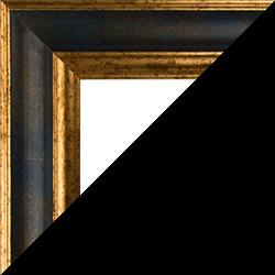 Individueller Bilderrahmen Modell Vienna Farbe Blau Gold