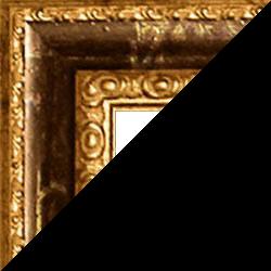 Individueller Bilderrahmen Modell Vienna Farbe Braun Gold