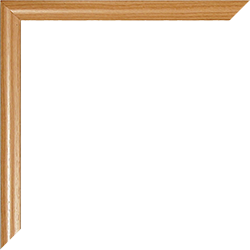 Individueller Bilderrahmen Modell Biggy Farbe Buche