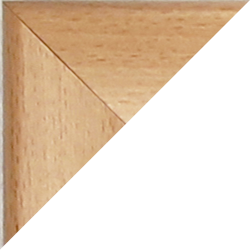 Individueller MDF Bilderrahmen Sonderformat Modell Pisa Buche Dekor