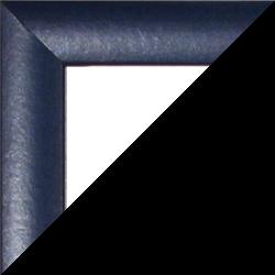 Individueller MDF Bilderrahmen Sonderformat Modell Palma Dunkelblau gewischt