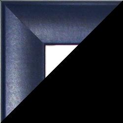 Individueller MDF Bilderrahmen Sonderformat Modell Pisa Dunkelblau gewischt