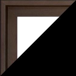 Individueller Bilderrahmen Modell Lyon Farbe Eiche Dunkel