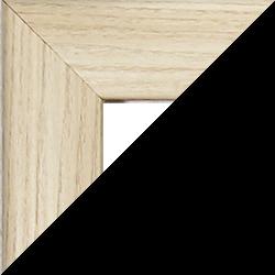 Individueller MDF Bilderrahmen Sonderformat Modell Pisa Eiche hell Dekor