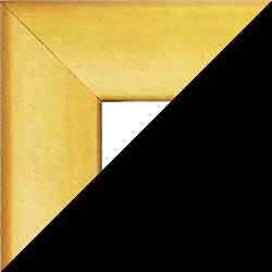 Individueller MDF Bilderrahmen Sonderformat Modell Pisa Zitronengelb