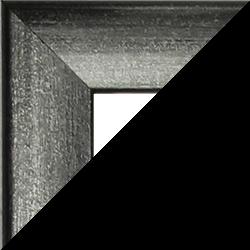 Individueller MDF Bilderrahmen Sonderformat Modell Pisa Grau gewischt