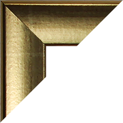 Individueller MDF Bilderrahmen Sonderformat Modell Pisa Goldglanz