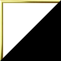 Individueller Bilderrahmen Modell Ottawa Farbe Gold Glanz