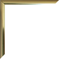Aluminium Foto-Rahmen Hamilton Hochglanz Sonderformat Gold Hochglanz