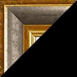 Individueller Bilderrahmen Modell Vienna Farbe Gold Silber Vintage