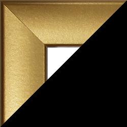 Individueller MDF Bilderrahmen Sonderformat Modell Pisa Gold schlicht