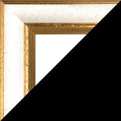 Individueller Bilderrahmen Modell Vienna Farbe Weiß Gold