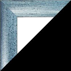 Individueller MDF Bilderrahmen Sonderformat Modell Palma Hellblau gewischt