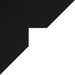 Individueller Billderrahmen Modell Oslo Farbe Schwarz Matt nach Maß im Onlineshop bestellen