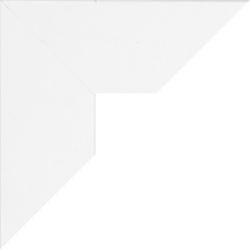 Individueller Billderrahmen Modell Oslo Farbe Weiß Matt nach Maß im Onlineshop bestellen