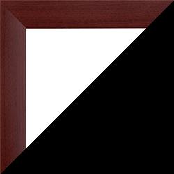 Individueller Bilderrahmen Modell Pisa Mahagoni Dekor