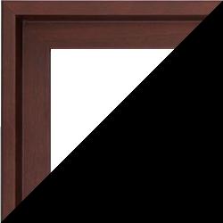 Individueller Bilderrahmen Modell Madeira Farbe Dunkelbraun