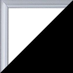 Individueller Bilderrahmen Modell Kingston Farbe Silber Hochglanz