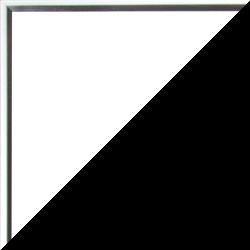 Individueller Bilderrahmen Modell Ottawa Farbe Silber Glanz