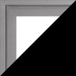 Individueller Bilderrahmen Modell Lyon, Farbe Silber