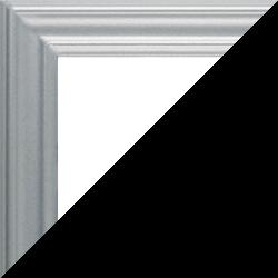 Individueller Bilderrahmen Modell Bergamo Farbe Silber Matt