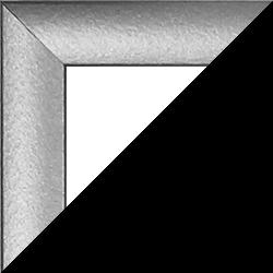Individueller MDF Bilderrahmen Sonderformat Modell Palma Silber matt