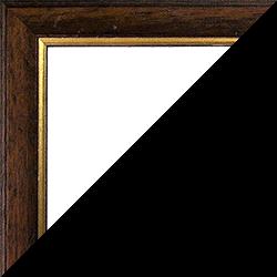 Individueller Bilderrahmen Modell Cambridge Farbe Nussbraun Gold