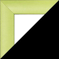 Individueller MDF Bilderrahmen Sonderformat Modell Palma Neongrün