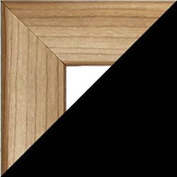 Individueller Bilderrahmen Sonderformat Modell Pisa Nussbaum hell Dekor