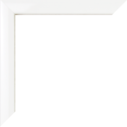 Individueller Bilderrahmen Modell Orlando Farbe Weiß Hochglanz