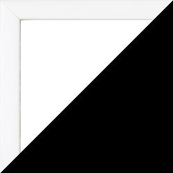 Individueller Bilderrahmen Modell Orlando Farbe Weiß Matt