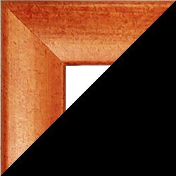 Individueller Bilderrahmen Sonderformat Modell Pisa Orange gewischt