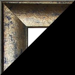 Individueller Bilderrahmen Modell Pisa Blaugold meliert